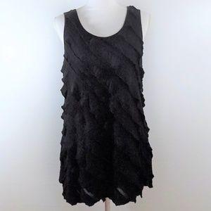 STYLE & CO Women's Blouse - Black Raw Cut - Size L